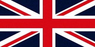 Flag of the United Kingdom (UK) aka Union Jack glittering speckles Royalty Free Stock Images