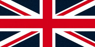 Flag of the United Kingdom (UK) aka Union Jack glittering speckles Royalty Free Stock Photo