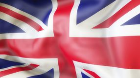 Flag, United Kingdom, Waiving flag of United Kingdom Royalty Free Stock Images