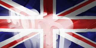 Flag of United Kingdom wavy www internet Royalty Free Stock Images