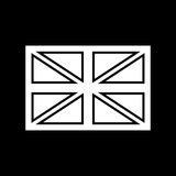 Flag united kingdom white color icon . Royalty Free Stock Images