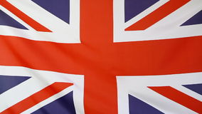 Flag of United Kingdom. In the wind stock video footage