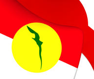 Flag of United Malays National Organisation. Close Up vector illustration