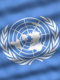 Flag of United Nations. National flag of the United Nations Stock Photos