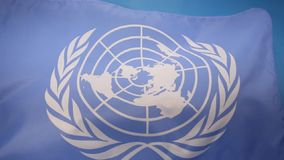 Flag of the United Nations stock video footage