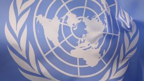 Flag of the United Nations stock video