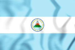 Flag of United Provinces of Central America. 3D Illustration. Royalty Free Stock Photo