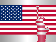 Flag of the United States. Vector illustration Royalty Free Stock Image