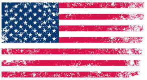 Flag of United States. Grunge background(vector, illustration Royalty Free Stock Photography