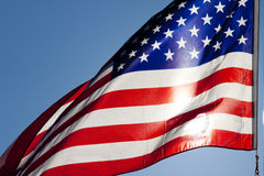Flag of the united states. Of america Stock Photos