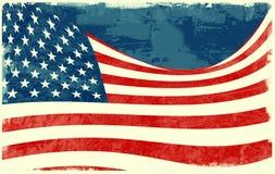Flag of the United States. Computer designed highly detailed grunge style  illustration of waving  USA flag Stock Photography