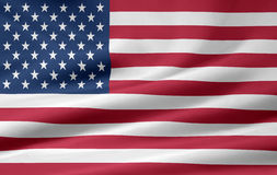 Flag of the United States. Very large version of the United States flag Stock Photo