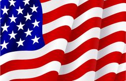 Flag of United States of America Royalty Free Stock Photo