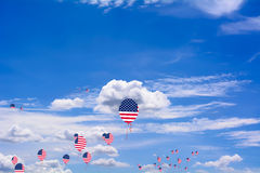 Flag of United States of America on balloon Royalty Free Stock Photography