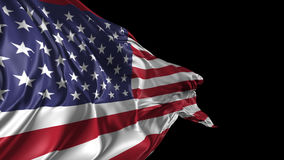 Flag of United States of America stock footage