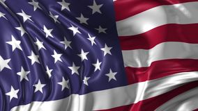 Flag of United States of America stock video