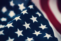 Flag of the United States of America. Closeup of a flag of the United States of America Stock Photography