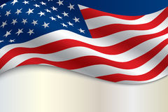 Flag of the United States of America with copy Stock Photography