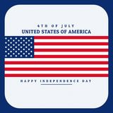 Flag of united states of america Royalty Free Stock Photos