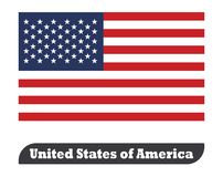Flag of USA stock illustration