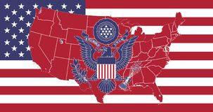 Flag United States of America flag vector, great seal of the USA royalty free illustration