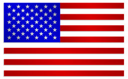 Flag of United States Of America in metallic colors style Royalty Free Stock Images