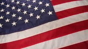 Flag of the United States of America stock video