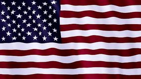 Flag of United States of America stock video footage