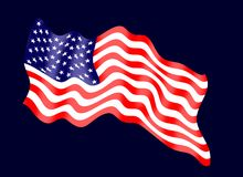 The flag of the United States of America, often referred to as the American flag, is the national flag of the United States. It co. Nsists of thirteen equal Stock Image