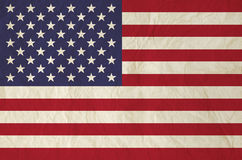 Flag of United States of America with old vintage paper Royalty Free Stock Images