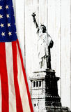 Flag of the United States of America with Statue of Liberty Royalty Free Stock Images