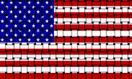 Flag of the United States of America - USA 002 Royalty Free Stock Images