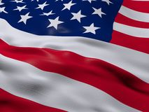 Flag of United States of America, USA. 3d beautiful Flag of United States of America, USA Royalty Free Stock Image