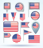 Flag of United states of america, vector illustration. Royalty Free Stock Image