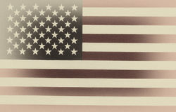 Flag of United States of America in vintage style Stock Photos