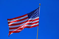 Flag. United States American red, white and blue flag Royalty Free Stock Photography