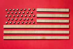 flag united states, big, on red background royalty free stock photos