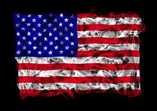 Smoky flag of United States Stock Images