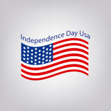 Flag of the United States with the inscription. Independence Day USA. 4th of July. Vector illustration. Stock Photography