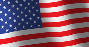 Flag United States moving wind. American flag of the United States of America or USA with linen fabric texture which is moving in the wind. Smooth motion of stock video footage