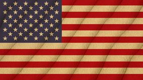 Flag of United states on the sand. National flag of United States American on the sand background Stock Image