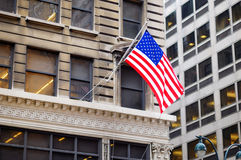 Flag of the United States on a skyscrapper in New York Stock Images