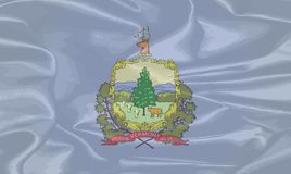 Vermont Silk Flag. The flag of the United States state of Vermont Royalty Free Stock Images
