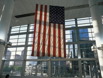 Flag of the United States. Flag of the United States in the Staten Island Ferry Terminal Royalty Free Stock Image