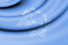 Flag of Universal Postal Union. Royalty Free Stock Images