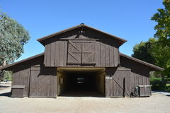 Flag is Up Farms main barn. Solvang Buellton California Monty Roberts The Man Who Listens to Horses main barn Royalty Free Stock Photo