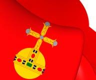 Flag of Uppsala County, Sweden. Royalty Free Stock Photo