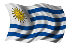 Flag of Uruguay Royalty Free Stock Photography
