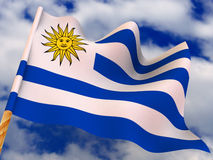 Flag. Uruguay Stock Photography