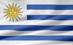 Flag of Uruguay Stock Images